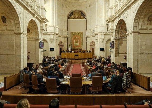 Pleno del Parlamento de Andalucía. Imagen de archivo.