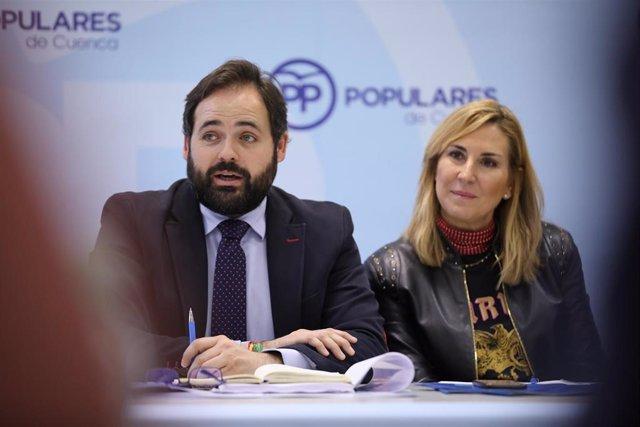 El presidente del PP de C-LM, Paco Núñez, en el Comité de Dirección del PP en Cuenca.