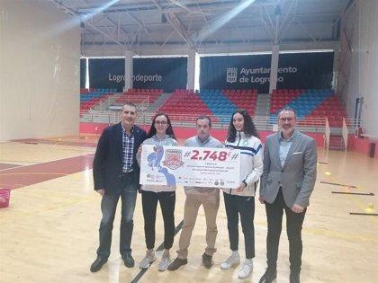 AREPAK recibe 2.748 euros fruto de la solidaridad del Torneo Canteras, organizado por la Federación de Baloncesto