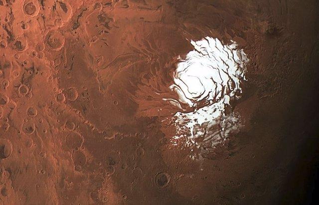Explicación a un misterio polar de Marte