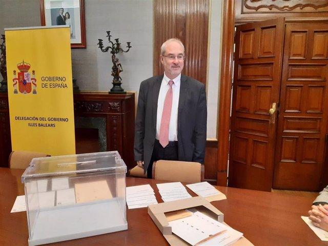 El delegado del Gobierno en funciones, Ramón Morey.