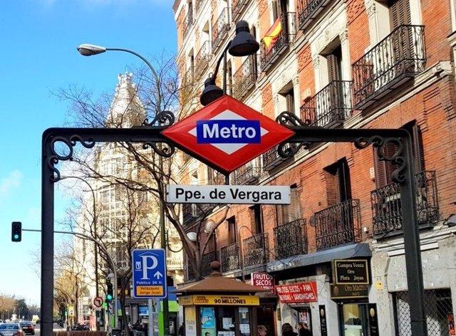 Imagen de la estación de Metro de Príncipe de Vergara.