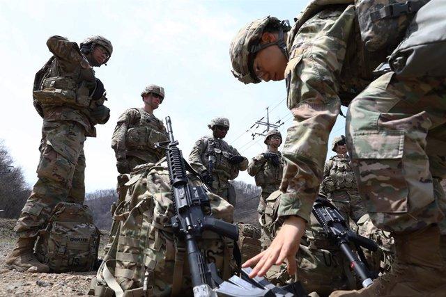 Corea.- Estados Unidos avisa de una posible baja forzada a 9.000 de sus militare
