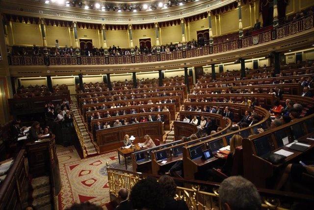 Plano general del hemiciclo del Congreso durante su constitución