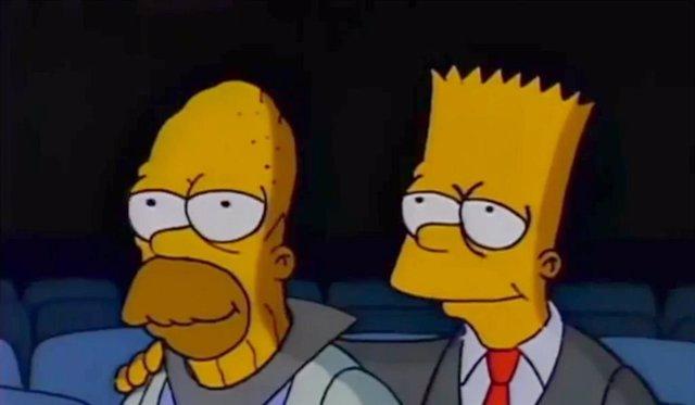 Imagen de Homer y Bart en Los Simpson