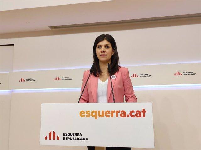 La secretria general adjunta i portaveu d'ERC Marta Vilalta.
