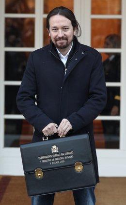 El vicepresident de Drets Socials i Agenda 2030 del Govern central, Pablo Iglesias, a Madrid (Espanya), 14 de gener del 2020.