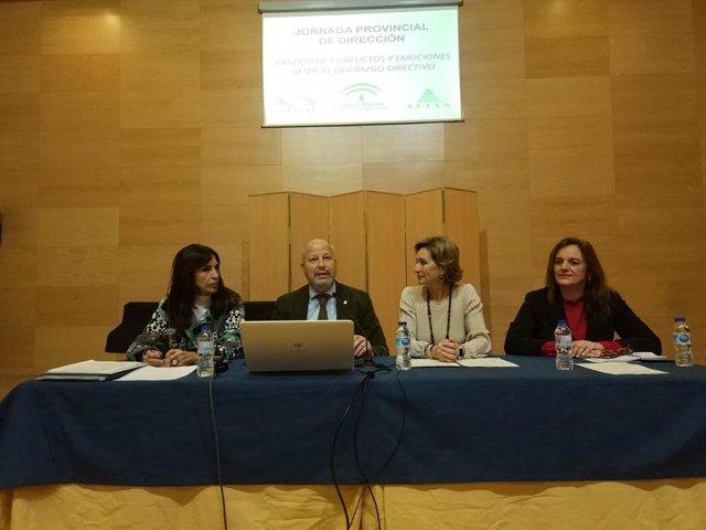 El consejero de Educación y Deporte de la Junta de Andalucía, Javier Imbroda, durante su intervención en la jornada en Córdoba.