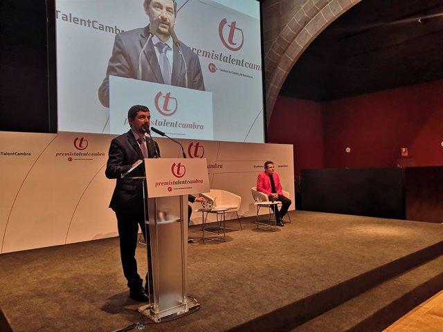 El president de la Cambra de Barcelona, Joan Canadell, i l'economista Xavier Sala-i-Martin.