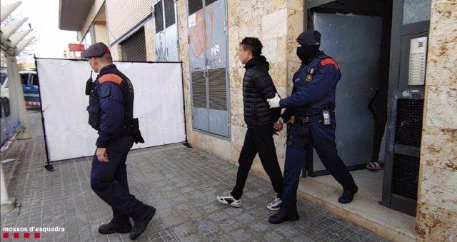 Els Mossos d'Esquadra detenen una persona en una operació per delictes contra el patrimoni a Calafell (Tarragona).