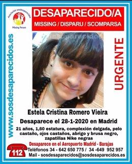 Granada.-Sucesos.-Denuncian la desaparición de una joven de Alhendín que llegó a