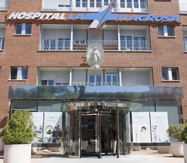 Fachada del Hospital La Milagrosa de Madrid