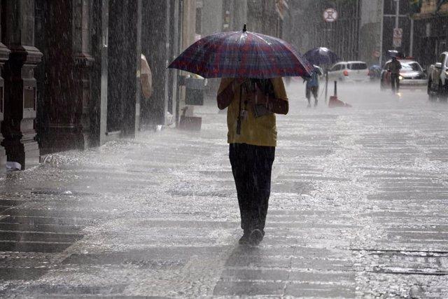 Imagen de las fuertes lluvias en Brasil.