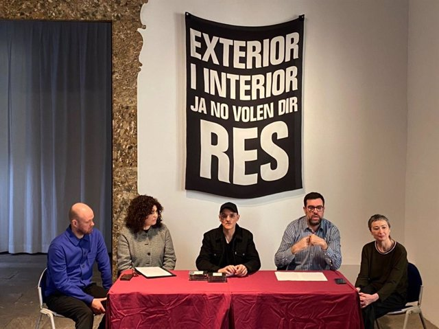 Presentación de la exposición 'COL·LAPSE', del artista Joan Morey, en el Casal Solleric.