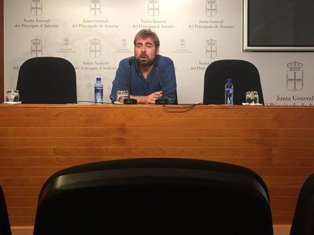 Daniel Ripa, diputado y secretario general de Podemos Asturies