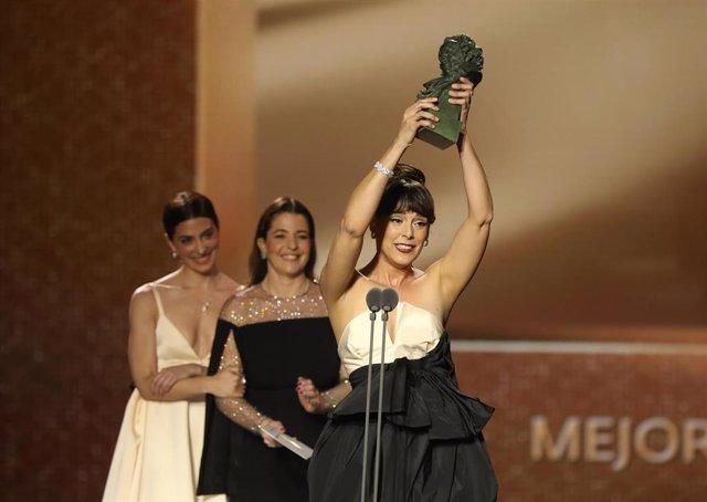 Mejor actriz protagonista para Belén Cuesta por La trinchera infinita en la XXXIV edición de los Premios Goya, en Málaga (Andalucía, España), a 25 de enero de 2020. .