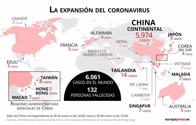 China.- Finlandia confirma su primer caso del nuevo coronavirus chino