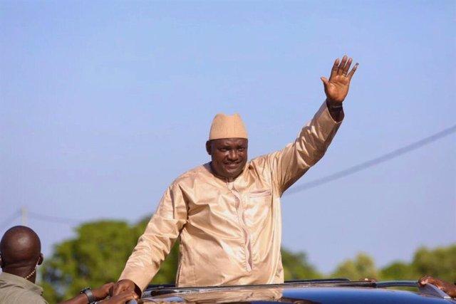 Adama Barrow, presidente de Gambia