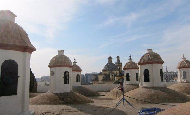 Cúpulas de la fábrica de Artillería de Sevilla