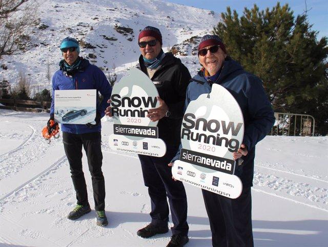 Imagen de la presentación del 'Snow Running' de Sierra Nevada