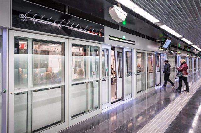 Andana de la L9 del Metro de Barcelona (archivo)