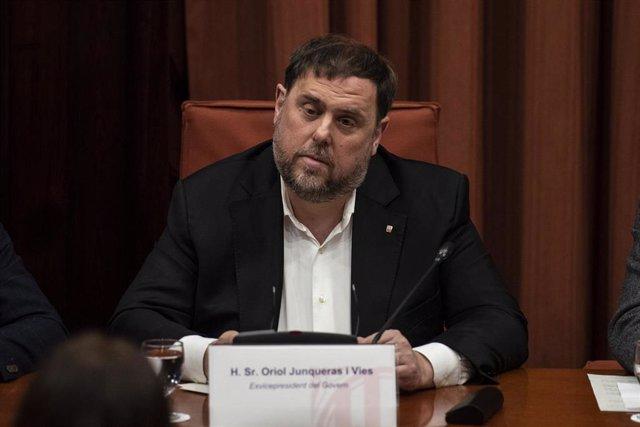 España.- El TS reitera que no pedirá suplicatorio porque Junqueras perdió la con
