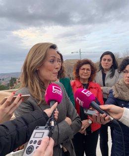 La diputada nacional del PP por la provincia de Albacete, Carmen Navarro, en declaraciones a los medios