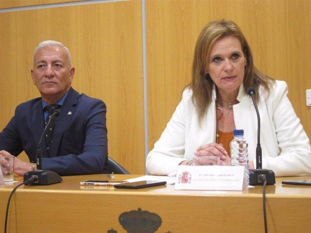 La delegada del Gobierno, Yolanda García Seco, en rueda de prensa tras los incidentes en Agroexpo