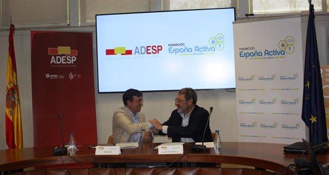 La ADESP y España Activa firman un acuerdo de colaboración para luchar contra el sedentarismo