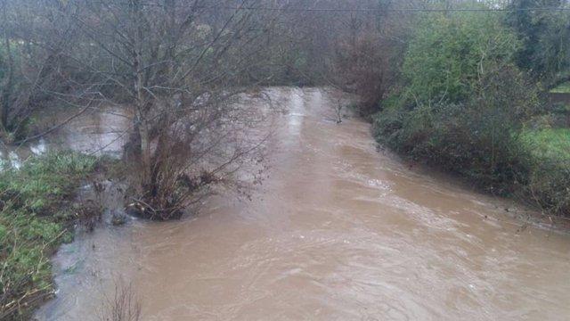 Río desbordado