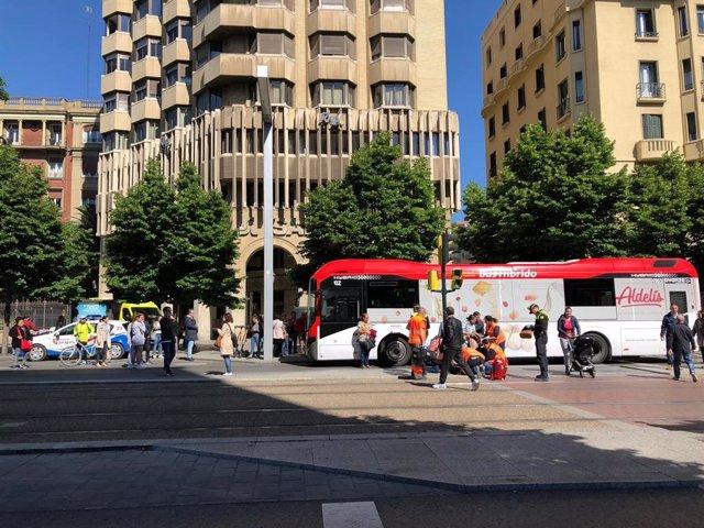 El accidente ha ocurrido en la plaza Aragón.