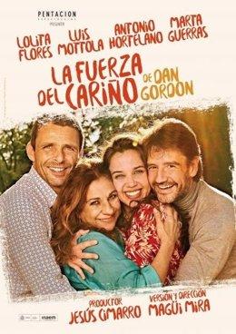 Cartel de 'La fuerza del cariño', con Lolita Flores