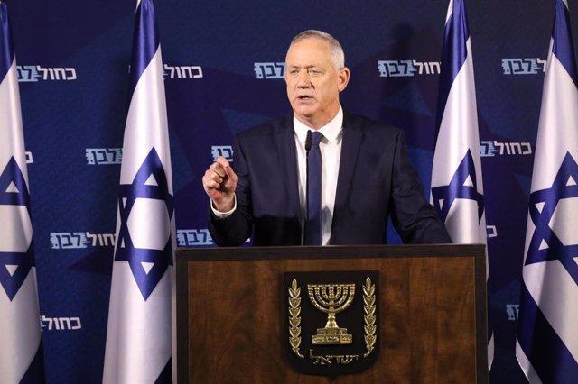El principal líder opositor de Israel, Benjamin Gantz