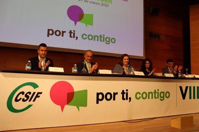 Congreso de CSIF Jaén que ha elegido como presidenta a Antonia Ibáñez