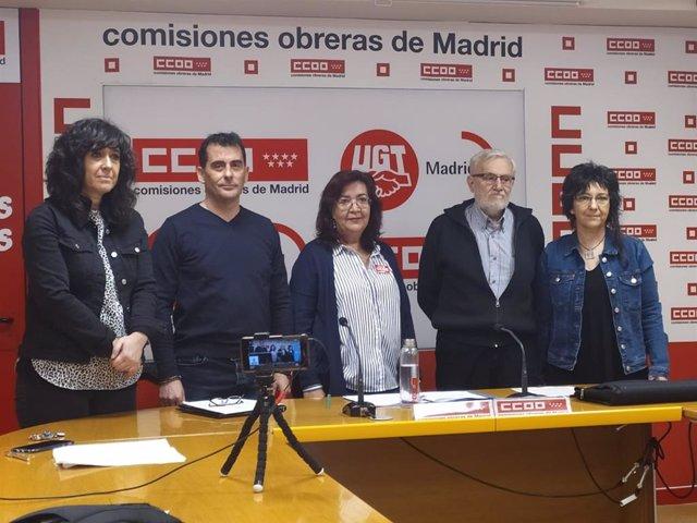 Representantes de las entidades que componen el Observatorio de la Salud de Madrid.