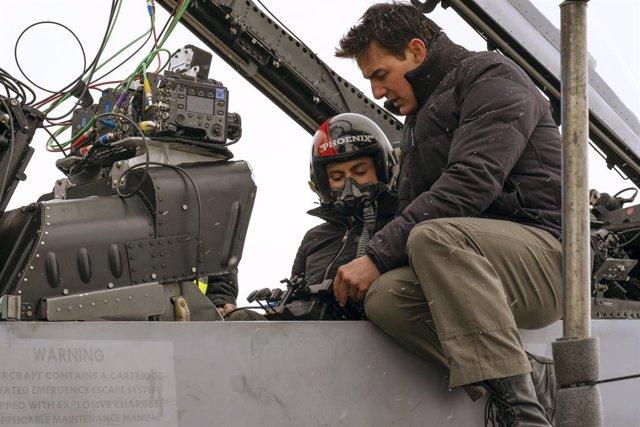 Imagen del rodaje de Top Gun: Maverick