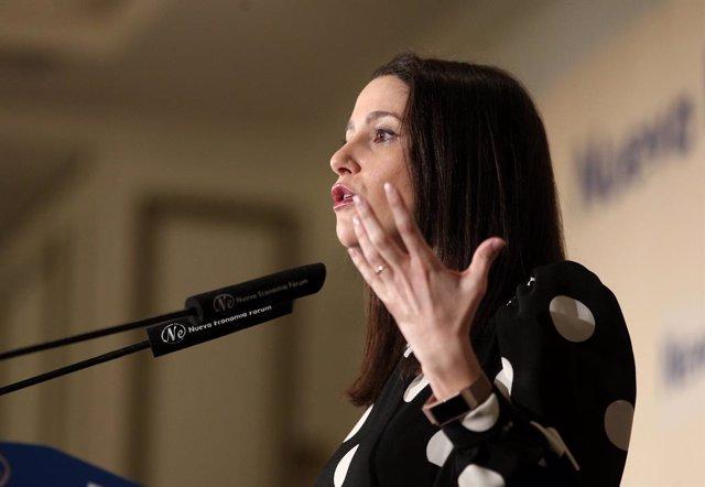 La portaveu de Ciutadans al Congrés,  Inés Arrimadas.