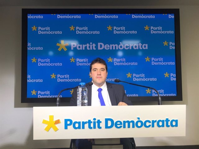 El president del PDeCAT, David Bonvehí, en roda de premsa, 30 de gener del 2020.