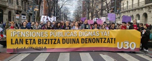 Manfiestación en Bilbao el 30 de enero