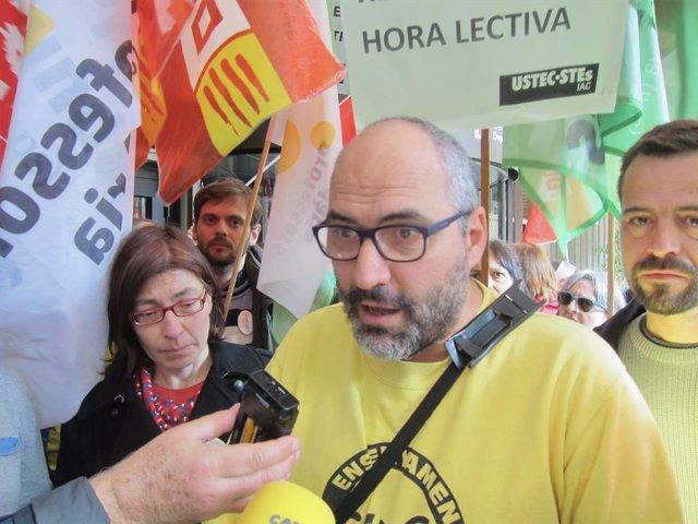 El portaveu d'Ustec·Stes Ramon Font.