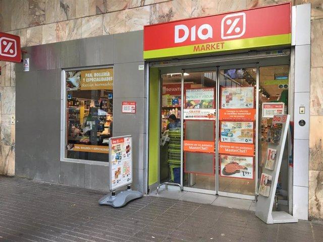 Imagen de un supermercado Dia en la capital de Madrid.