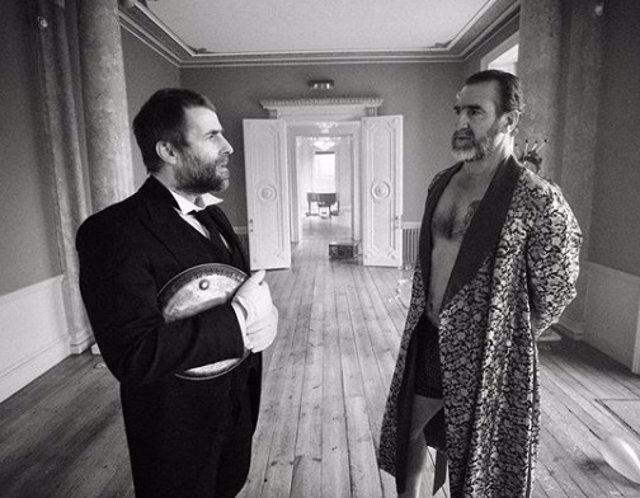 Liam Gallagher y Eric Cantona