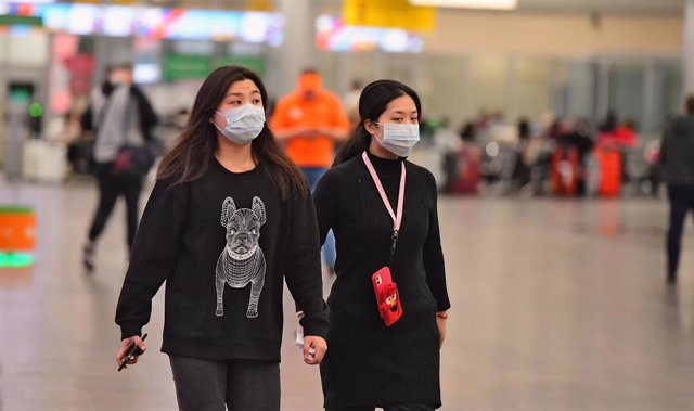 January 29, 2020 - Moscow, Russia: Increasing sanitary and quarantine control at Sheremetyevo Airport due to the outbreak of coronavirus in China.  (Igor Ivanko/Kommersant/Contacto)
