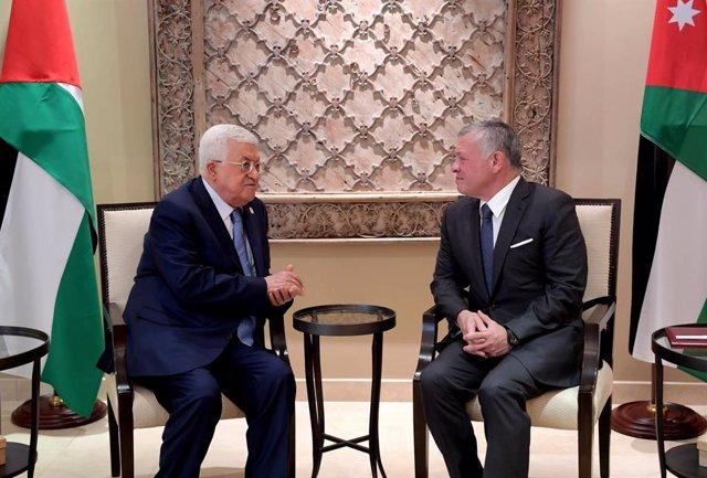 """O.Próximo.- El rey jordano reitera a Abbas su apoyo a los """"derechos justos y leg"""