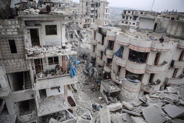 Siria.- Desplazados cerca de 150.000 civiles en enero a causa del recrudecimient