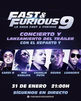 Concierto por el lanzamiento del tráiler de Fast and Furious 9