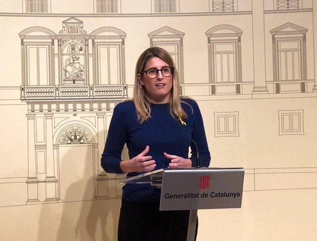 La diputada de JxCat al Parlament Elsa Artadi després de la reunió del president Quim Torra amb les forces independentistes, al Palau de la Generalitat, el 14 de gener del 2020.