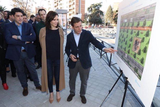 Imagen de archivo de la presentación del proyecto del PP para soterrar la A-5 durante la campaña electoral de 2019.