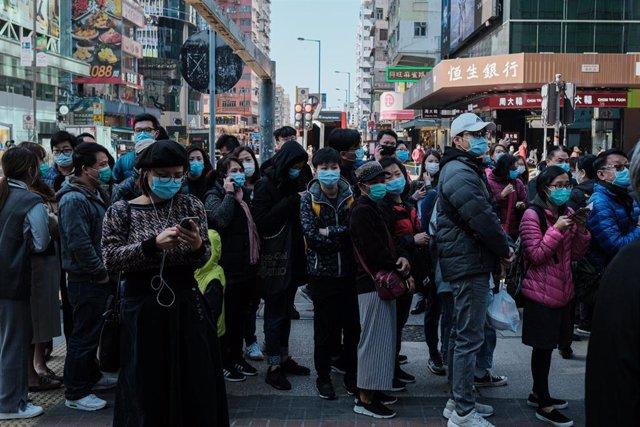 Mascarillas en Hong Kong
