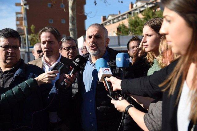 Declaracions de Carlos Carrizosa (Cs) a Molins de Rei (Barcelona)